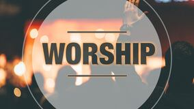 A picture of the word Worship